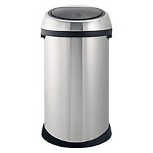 Buy Brabantia Fingerprint Proof Touch Bin, Matt Steel, 50L Online at johnlewis.com