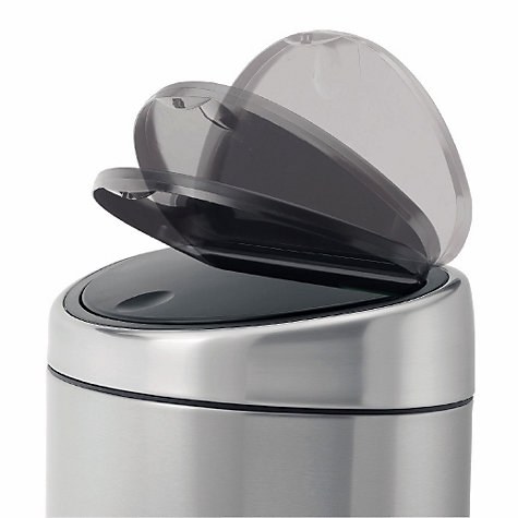 Buy Brabantia Twin Recycling Touch Bin, Matt Steel, 10/23L Online at johnlewis.com