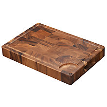 Buy John Lewis Acacia End Grain Chopping Board, Medium Online at johnlewis.com