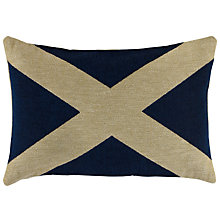Buy John Lewis Saltire Scotland Cushion, Blue Online at johnlewis.com