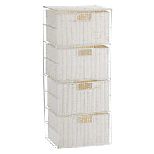 Buy John Lewis Paper Rope 4 Drawer Unit, White Online at johnlewis.com