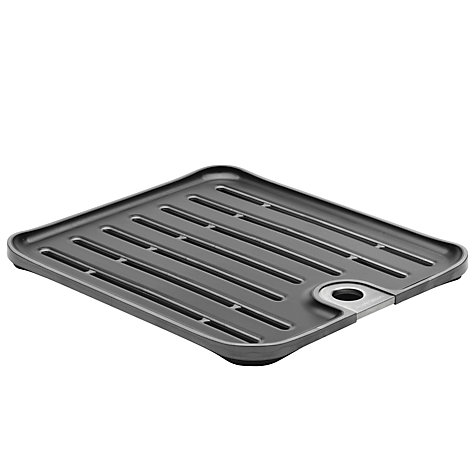 Buy simplehuman Sink Mat, Charcoal Grey Online at johnlewis.com