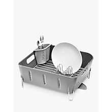 Buy simplehuman Compact Dish Drainer, Grey Online at johnlewis.com