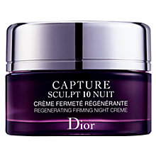 Buy Dior Capture Sculpt 10 Night Cream, 50ml Online at johnlewis.com