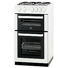 Buy Zanussi ZCG561FW Gas Cooker, White Online at johnlewis.com