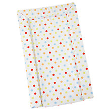 Buy John Lewis Baby Multi Spot Changing Mat, Lime/Red/Brown Online at johnlewis.com