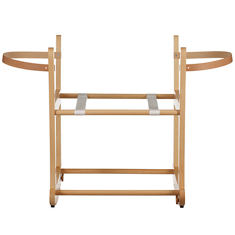 Buy John Lewis Rocking Moses Basket Stand, Natural Online at johnlewis.com