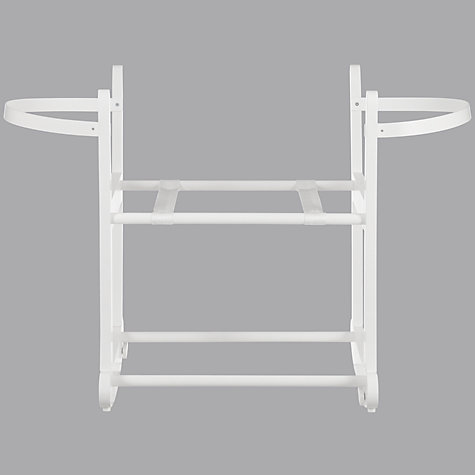 Buy John Lewis Rocking Moses Basket Stand, White Online at johnlewis.com