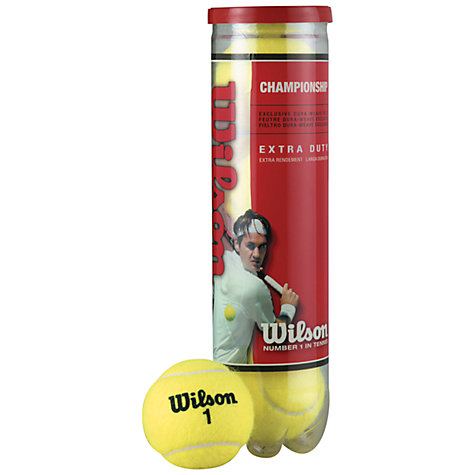Buy Wilson Championship Tennis Ball, Pack of 4 Online at johnlewis.com