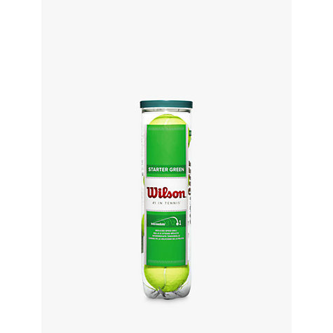 Buy Wilson Starter Play Tennis Ball, Green, Pack of 4 Online at johnlewis.com