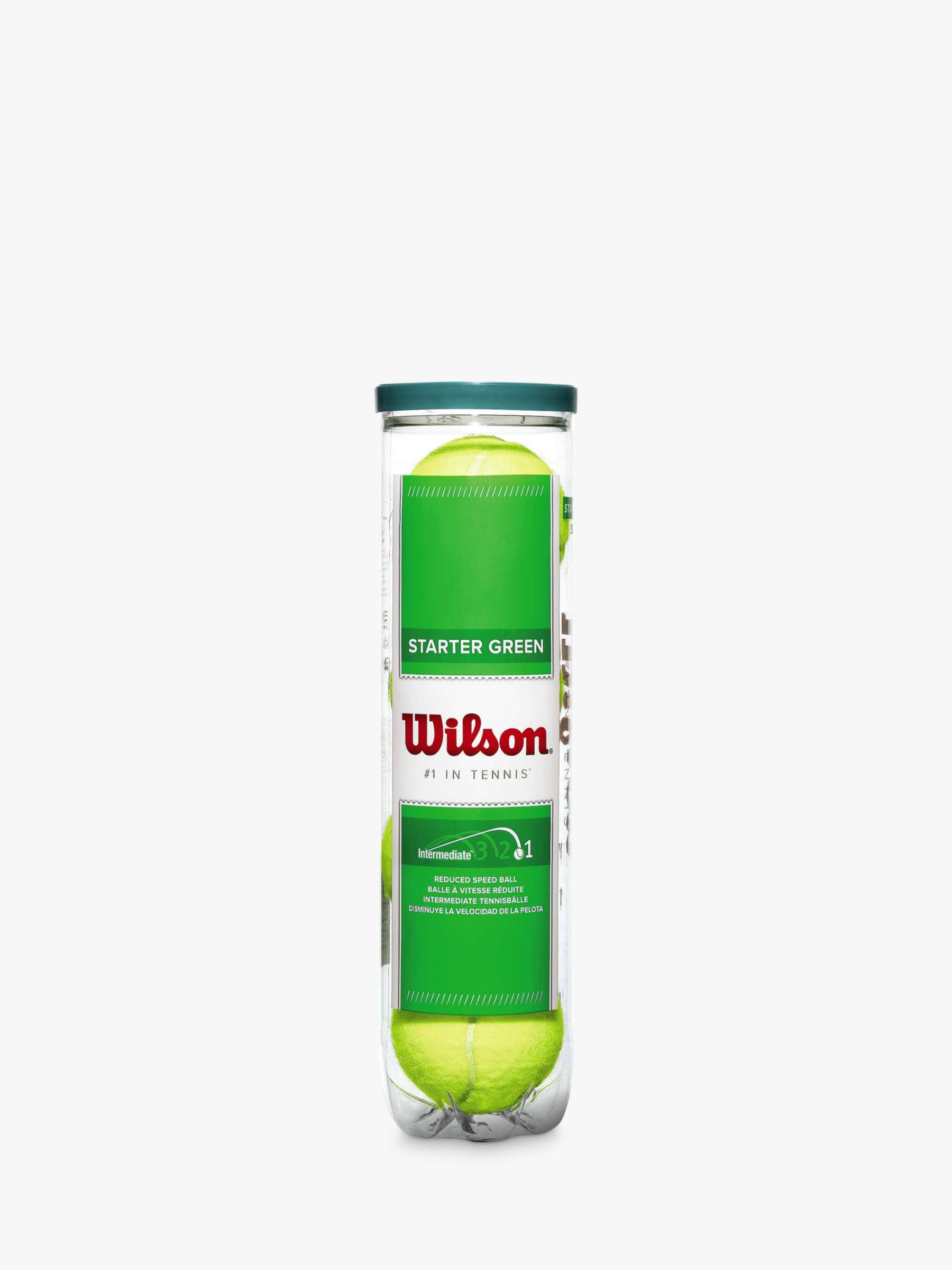 Wilson Wilson Starter Play Tennis Ball, Green, Pack of 4