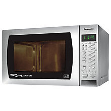 Buy Panasonic NN-CT579SBPQ Slimline Combination Microwave, Stainless Steel Online at johnlewis.com