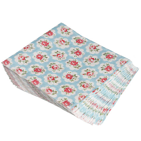 Buy Cath Kidston Provence Rose Paper Napkins, Pack of 20, Blue Online at johnlewis.com