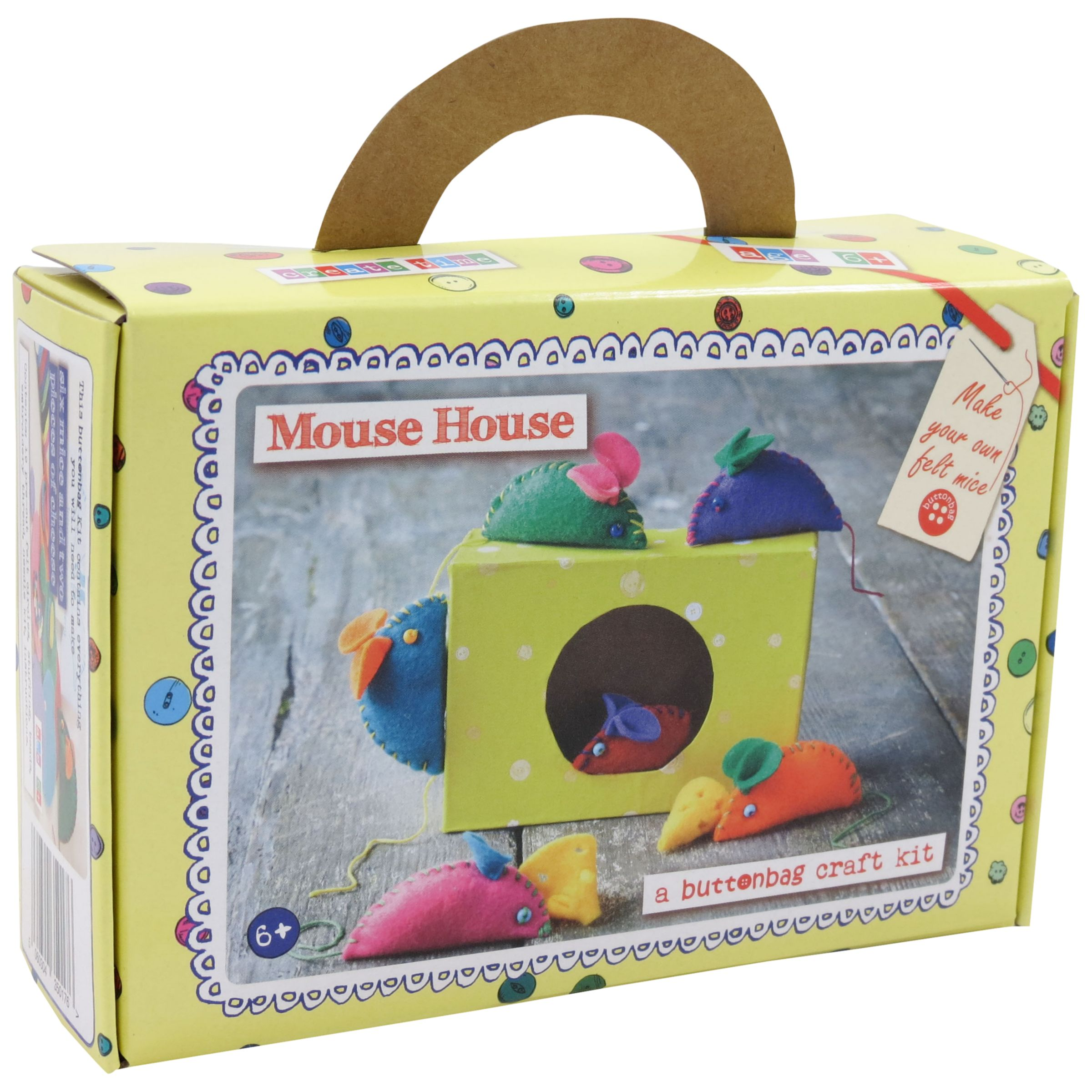 Buttonbag Buttonbag Mouse House Craft Kit