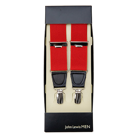 Buy John Lewis Wide Braces, One Size, Red Online at johnlewis.com