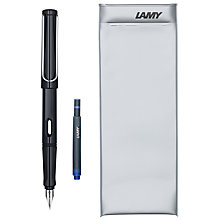 Buy Lamy Safari Fountain Pen, Black Online at johnlewis.com