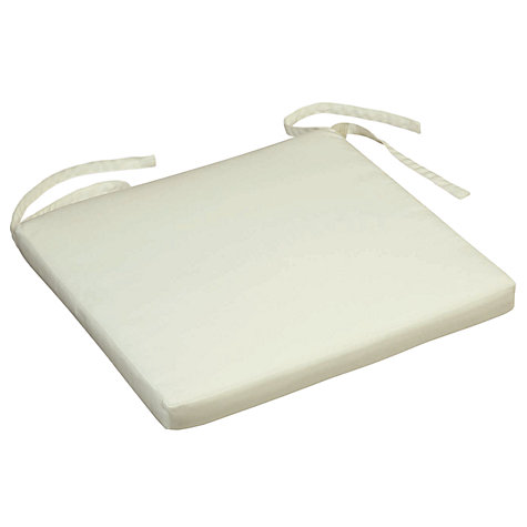 Buy Barlow Tyrie Dining Chair Cushion, Large, White Sand Online at johnlewis.com