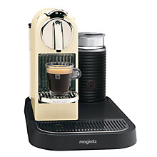 Buy Nespresso 190 CitiZ and Milk Coffee Machine by Magimix, Cream Online at johnlewis.com
