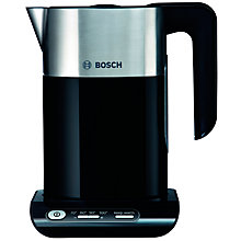 Buy Bosch Styline Kettle and 2-Slice Toaster, Black Online at johnlewis.com