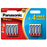 Panasonic Pro Power Alkaline AA Batteries, Pack of 4 + 4 Free