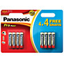 Panasonic Pro Power Alkaline AAA Batteries, Pack of 4 + 4 Free
