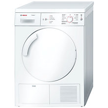 Buy Bosch Classixx WTE84105GB Sensor Condenser Tumble Dryer, 7kg Load, B Energy Rating, White Online at johnlewis.com