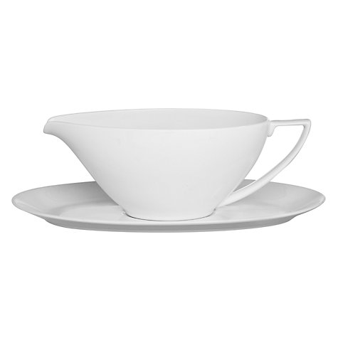 Buy Jasper Conran for Wedgwood White Sauce Boat Stand Online at johnlewis.com
