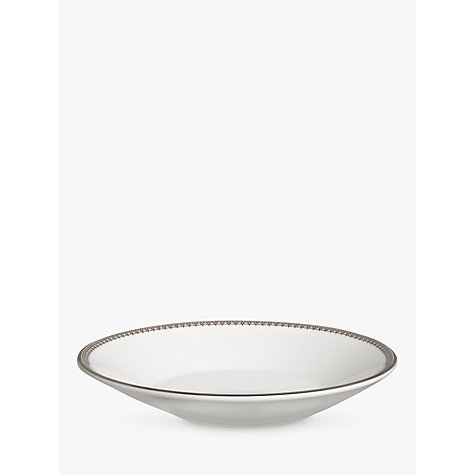 Buy Vera Wang for Wedgwood Lace Platinum Tea Saucer, Dia.12cm, White Online at johnlewis.com