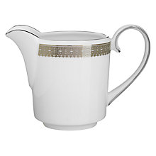 Buy Vera Wang for Wedgwood Lace Platinum Cream Jug Online at johnlewis.com