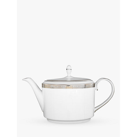 Buy Vera Wang for Wedgwood Lace Platinum Teapot, 1.1L Online at johnlewis.com