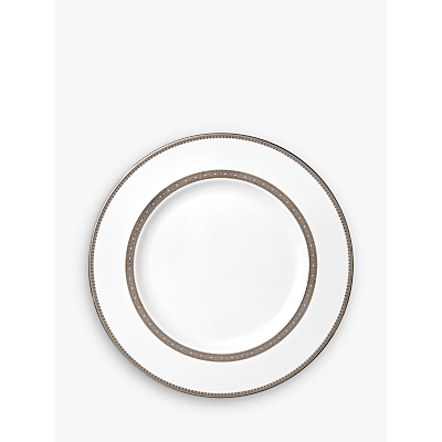 Vera Wang for Wedgwood Lace Platinum Dinner Plate, White