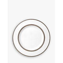 Buy Vera Wang for Wedgwood Lace Platinum Dinner Plate, White Online at johnlewis.com