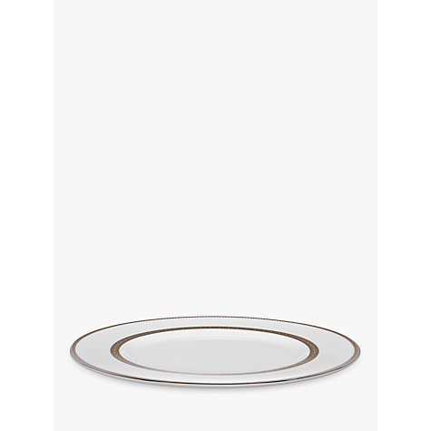 Buy Vera Wang for Wedgwood Lace Platinum Plates, White Online at johnlewis.com