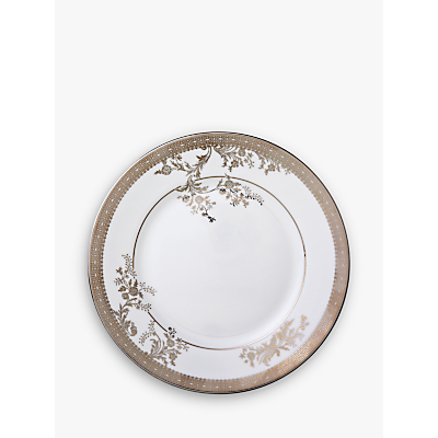 Vera Wang for Wedgwood Lace Platinum Dessert Plate, White