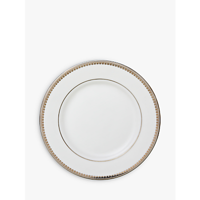 Vera Wang for Wedgwood Lace Platinum Tea Plate, White