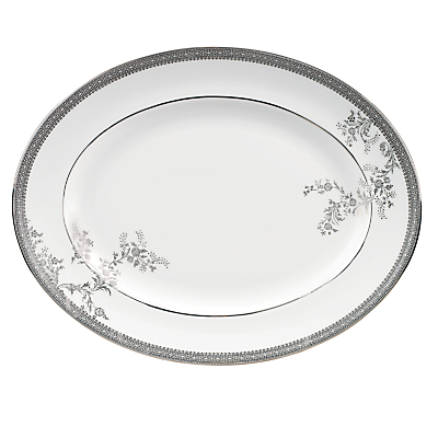 Vera Wang for Wedgwood Lace Platinum Oval Dish, 35cm