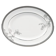 Buy Vera Wang for Wedgwood Lace Platinum Oval Dish, 35cm Online at johnlewis.com