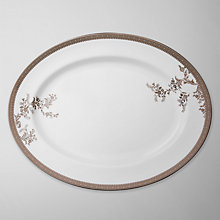 Buy Vera Wang for Wedgwood Lace Platinum Oval Dish, 39cm Online at johnlewis.com