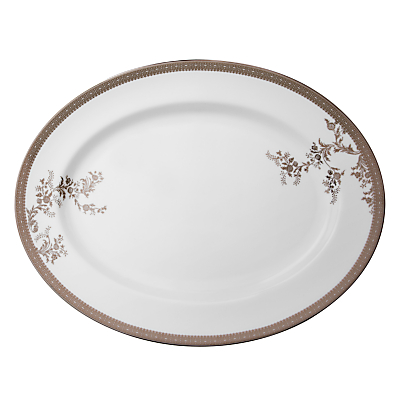 Vera Wang for Wedgwood Lace Platinum Oval Dish, 39cm