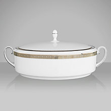 Buy Vera Wang for Wedgwood Lace Platinum Covered Vegetable Dish Online at johnlewis.com