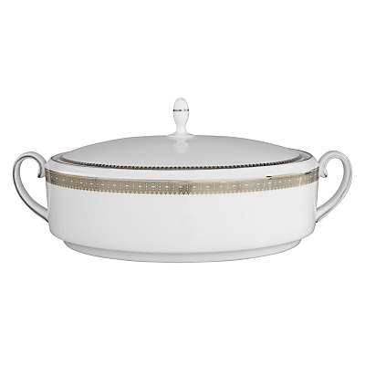 Vera Wang for Wedgwood Lace Platinum Covered Vegetable Dish