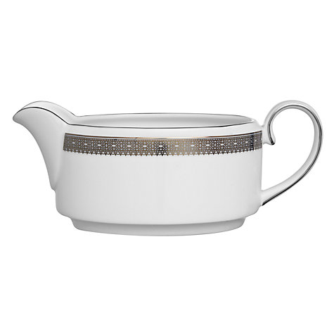 Buy Vera Wang for Wedgwood Lace Platinum Sauce Boat Online at johnlewis.com