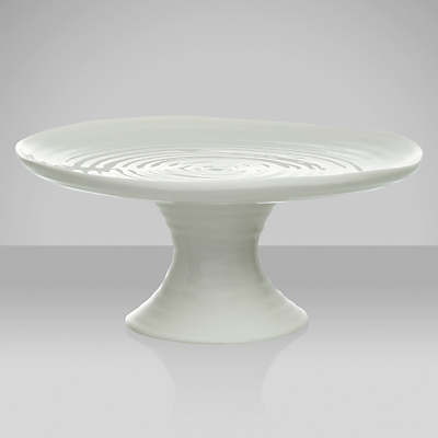 Sophie Conran for Portmeirion Footed Cake Plate, White, Dia.24cm
