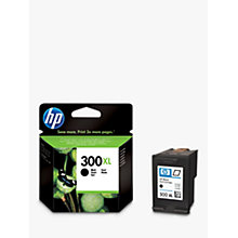 Buy HP 300XL Inkjet Cartridge, Black, CC641EE Online at johnlewis.com