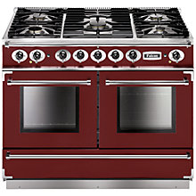 Buy Falcon 1092 Continental Dual Fuel Range Cooker, Cranberry / Brushed Nickel/Matt Pan Support Online at johnlewis.com