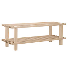Buy 2 Tier FSC Beech Wood Shoe Rack Online at johnlewis.com