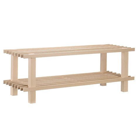 Buy John Lewis 2 Tier FSC Beech Wood Shoe Rack Online at johnlewis.com