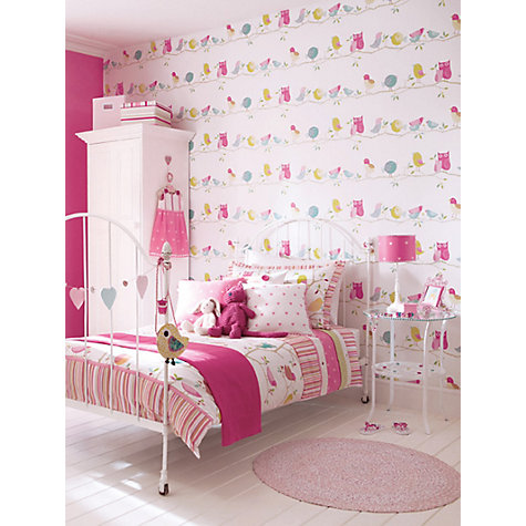 Buy Harlequin Wallpaper, What a Hoot 70515, Pink / Lime Online at johnlewis.com