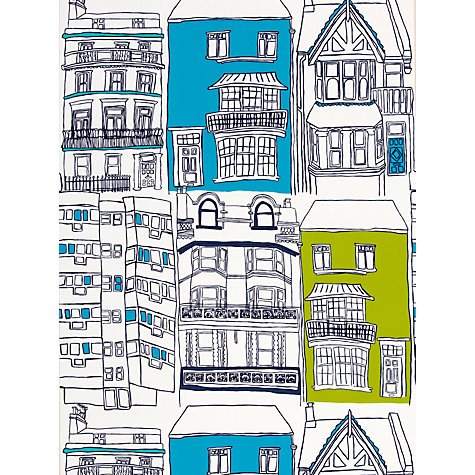 Buy Harlequin Wallpaper, Brighton 70513, Turquoise / Lime Online at johnlewis.com