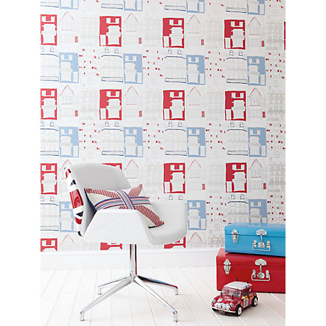 Buy Harlequin Wallpaper, Brighton 70512, Red / Blue Online at johnlewis.com